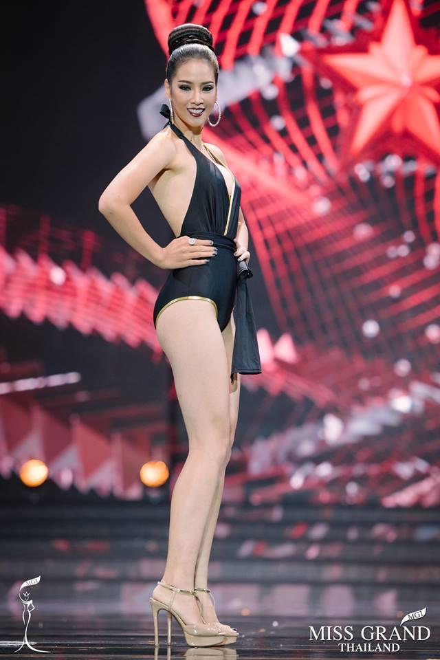 วิสุตราภัทร อุบลรัศมี มิสแกรนด์นนทบุรี 2017 Visutapat Jiksor Miss Grand Nonthaburi 2017 during Preliminary Swimsuit Competition (Courtesy - FaceBook/missgrandthailand)