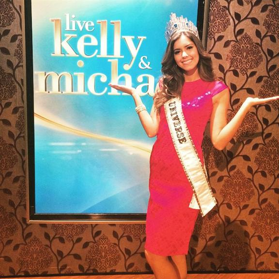 Paulina Vega Dieppa Miss Universe 2014 on her media tour