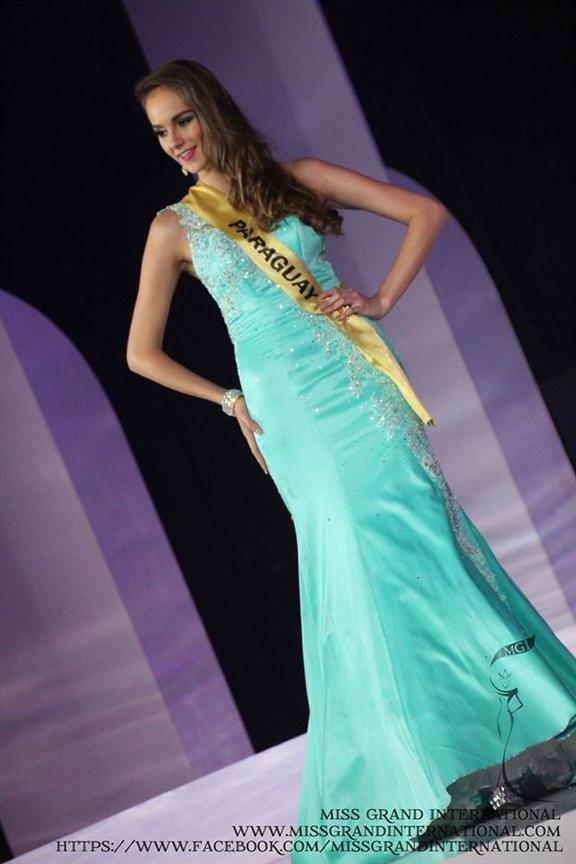 Gissella Sotomayor (Paraguay) Evening Gown Photo Courtesy Miss Grand International 2014