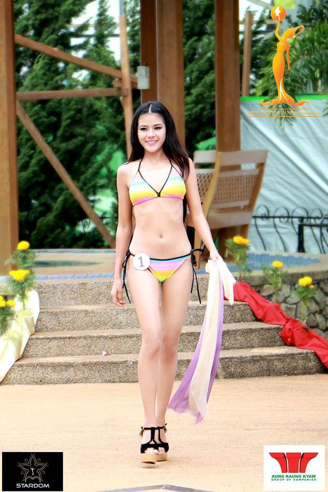 L Bawk Nue Miss Golden Land Myanmar 2015 Contestant  in Swimsuit (Photo Credits - MGLM Official)