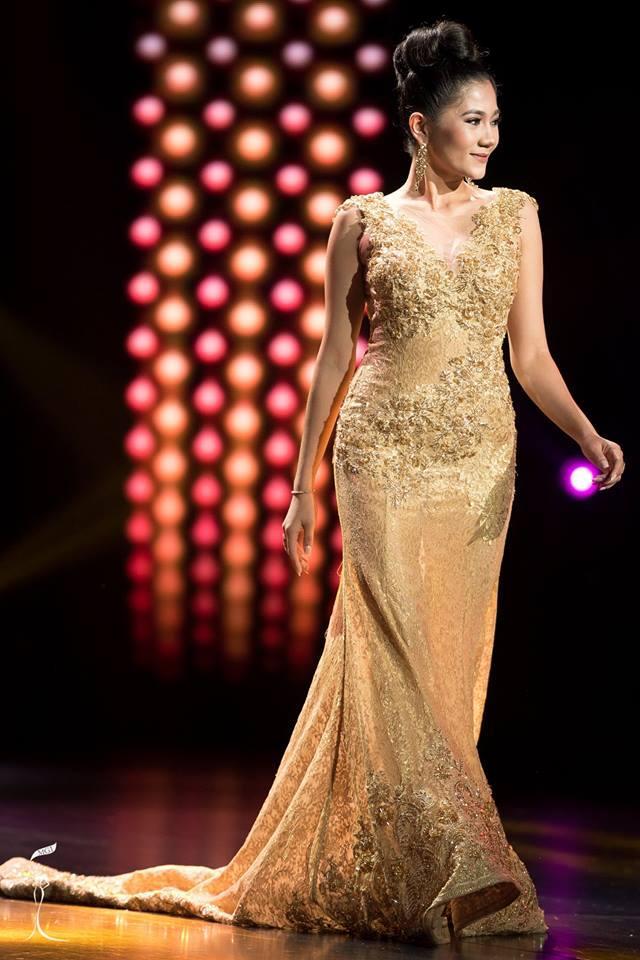 Nandar Lwin Miss Grand Myanmar 2016 in Evening Gown (Photo Credit: Official Facebook/ Miss Grand International Organization)