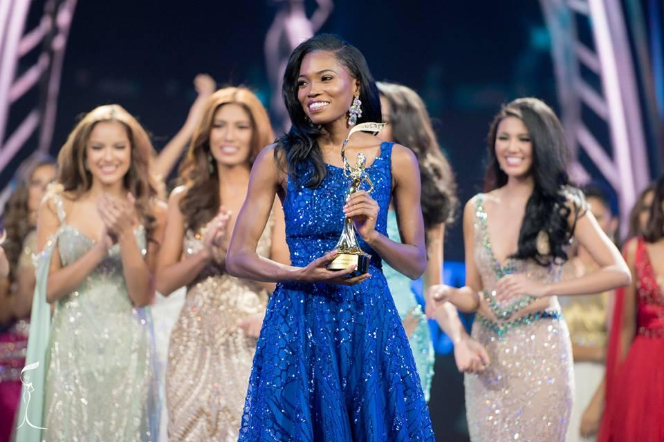 Dianne Brown, Miss Grand Jamaica 2016 won Best Social Media (Photo Credit: Miss Grand International Organization)