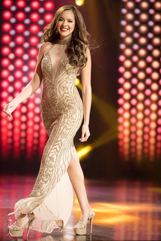 Michelle Leon Miss Grand United States of America 2016 in Evening Gown (Photo Credit: Official Facebook/ Miss Grand International Organization)