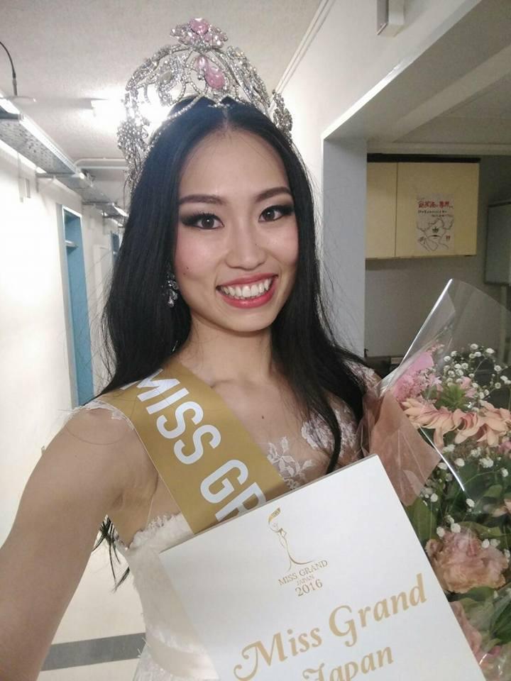 Ayaka Sato Miss Grand Japan 2016 (Photo Credit: Official Facebook/ Miss Grand International Organization)
