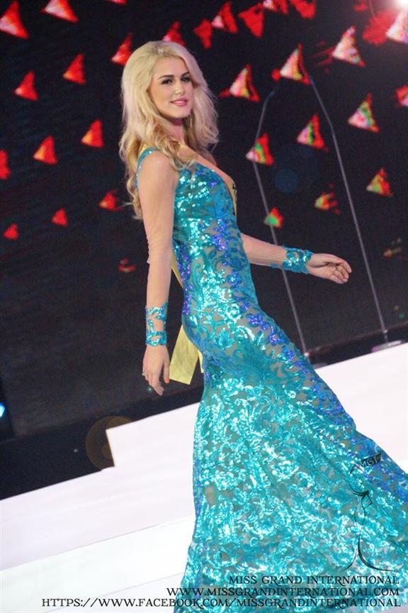 Naile Thaqi (Kosovo) Evening Gown Photo Courtesy Miss Grand International 2014