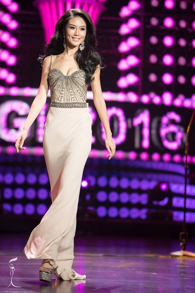Hio Man Chan Miss Grand Macau 2016 in Evening Gown (Photo Credit: Official Facebook/ Miss Grand International Organization)
