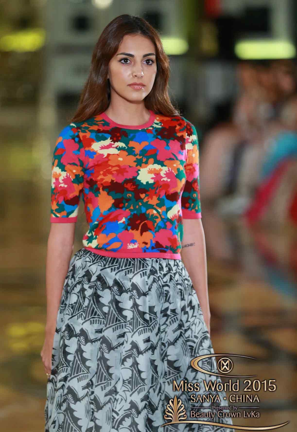 Valerie Abou Chacra Lebanon Miss World 2015 Photos