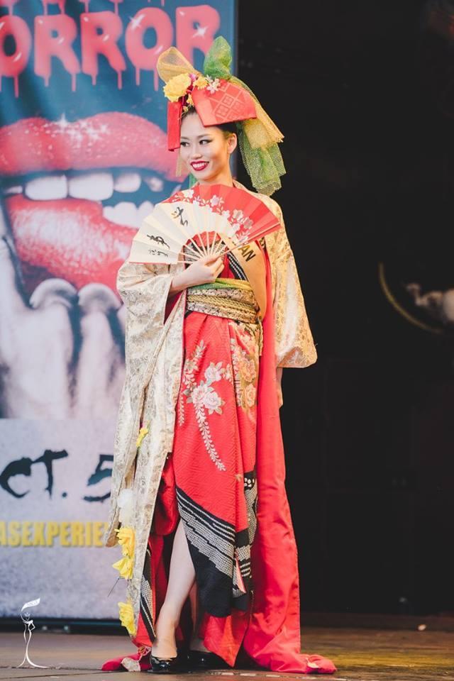 Ayaka Sato Miss Grand Japan 2016 in National Costume (Photo Credit: Official Facebook/ Miss Grand International Organization)