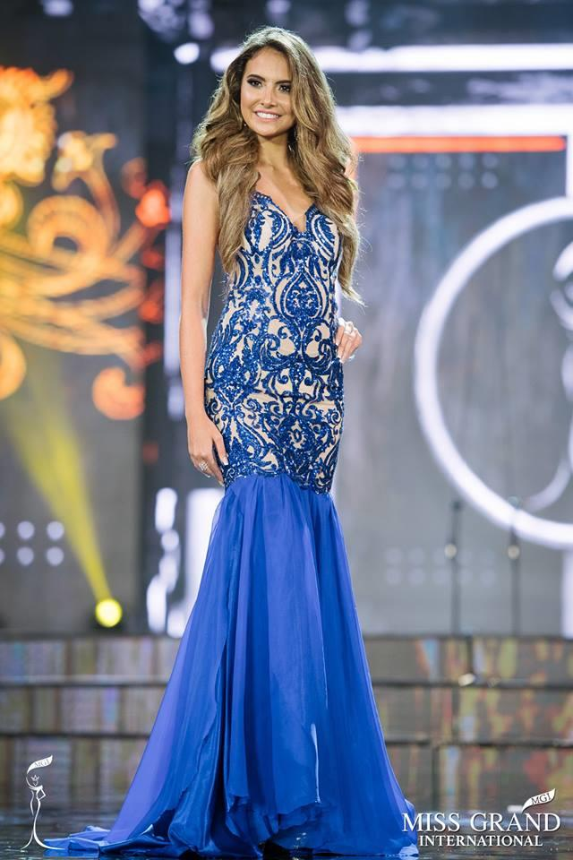 Analía Viviana Vernaza Daulón From Ecuador in Preliminary Evening Gown Competition of Miss Grand International 2017 (Photo Courtesy: MGI Official)