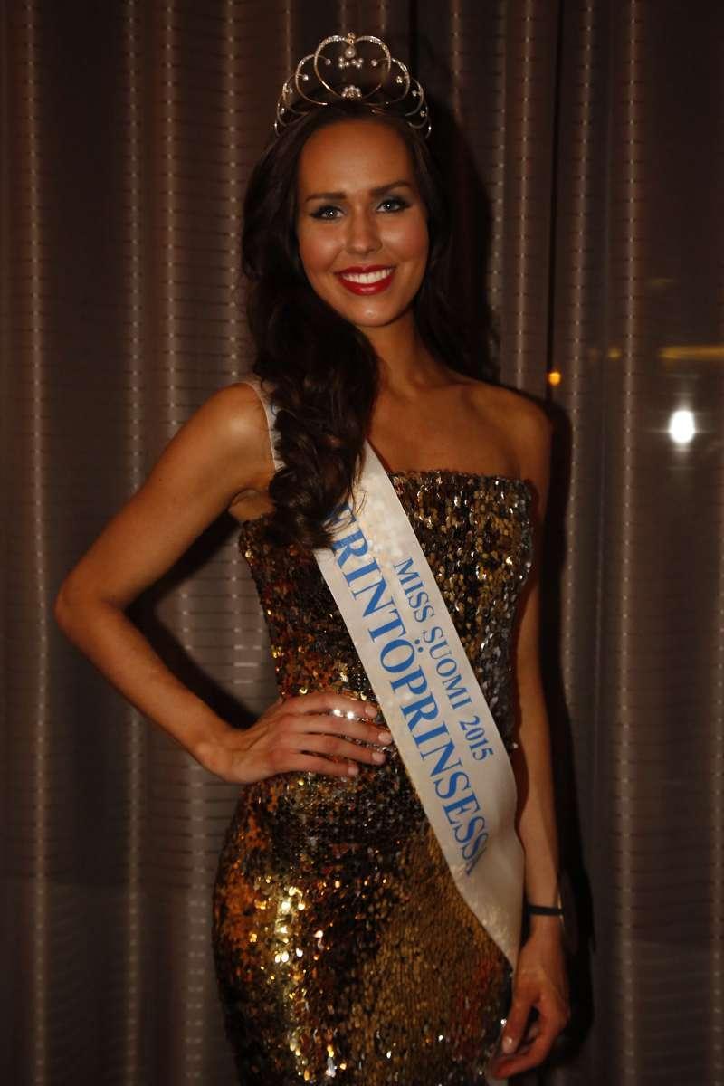 Carola Miller first runner-up Miss Suomi 2015 (Miss World Finland 2015)