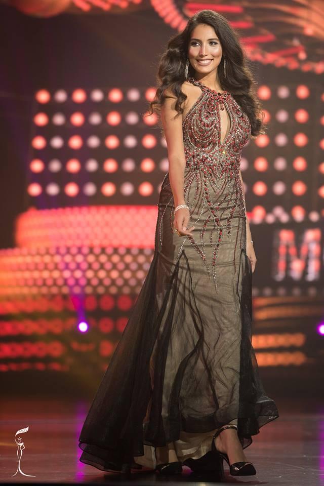 Kawtar Riahi Idrissi Miss Grand Belgium 2016 in Evening Gown (Photo Credit: Official Facebook/ Miss Grand International Organization)