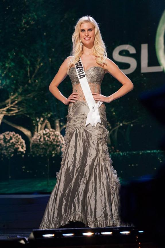 Miss Universe 2018 Contestants >> Urska Bracko Miss Universe Slovenia 2014 Evening Gown