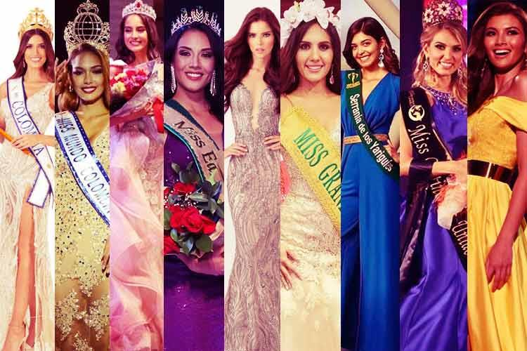 Team Colombia for International Beauty Pageants 2019