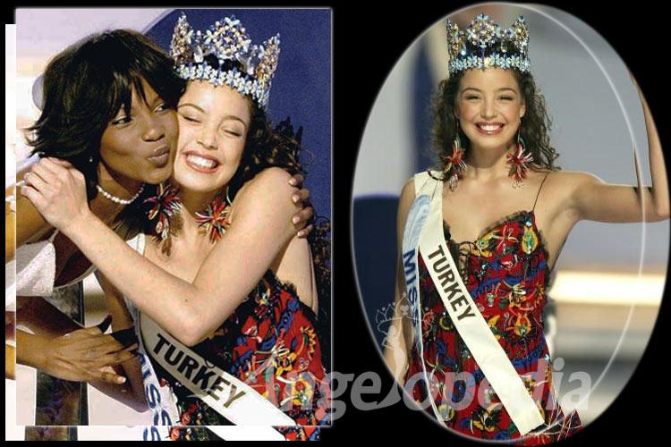 Azra Akin Miss World 2002 from Turkey
