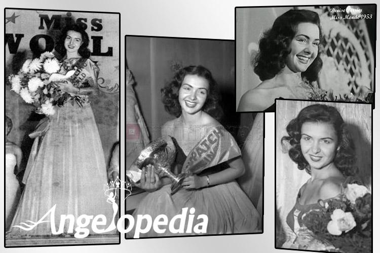 Denise Perrier Miss World 1953 from France