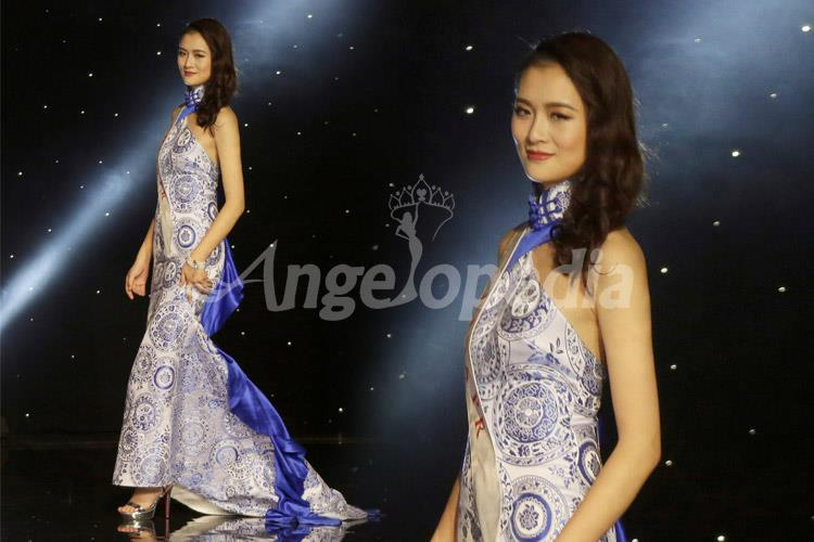 Jing Kong Miss China 2016 Royal Blue Gown