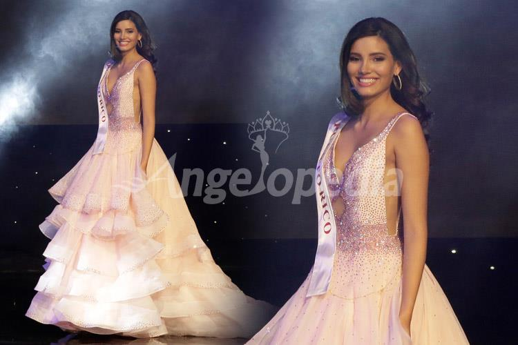 Stephanie Del Valle Diaz Miss World 2016 Baby Pink Gown