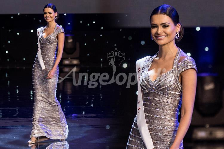 Beatrice Fontoura Miss Brazil 2016 Silver Gown