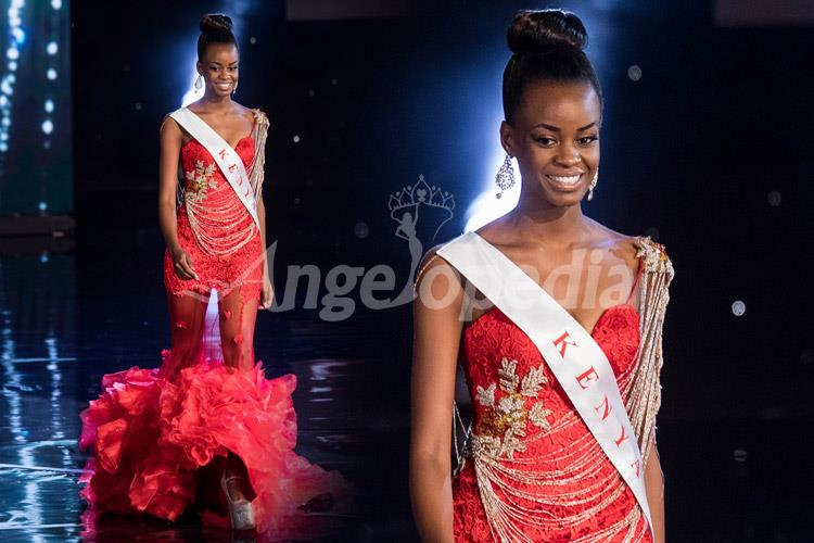 Evelyn Njambi Miss Kenya 2016 Electric Red Gown
