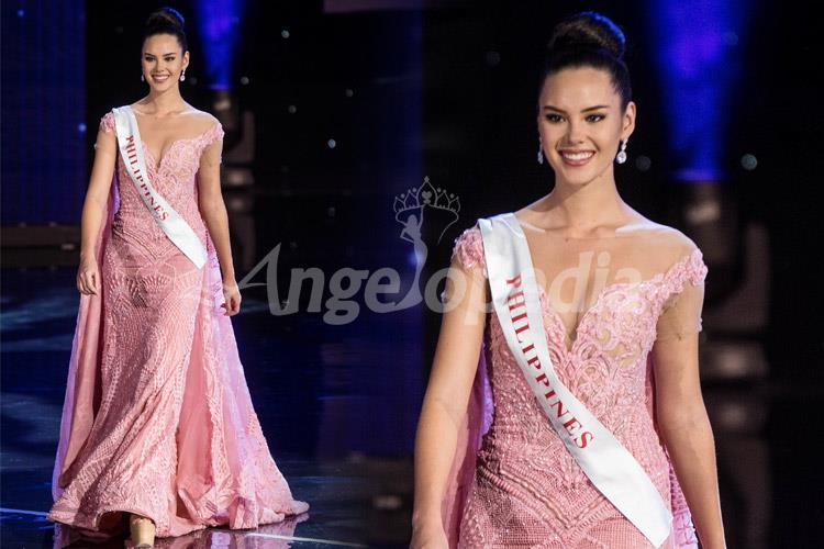 Catriona Gray Miss Philippines 2016 Coral Pink Gown