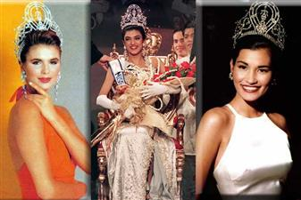 The Miss Universe winners from 1991 to 2000 are –Michelle McLean from Namibia, Dayanara Torres from Puerto Rico, SushmitaSen from India, Chelsi Smith from USA, Alicia Machado from Venezuela, Brook Lee from USA, Wendy Fitzwilliam from Trinidad & Tobago, Mpule Kwelagobe from Botswana, and Lara Dutta from India.
