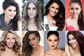 The Top 15 favourites of Miss Universe 2015 are - India, Philippines, Thailand, Mexico, Colombia, Venezuela, Brazil, Australia, Indonesia, Myanmar, Peru, USA, Vietnam, Jamaica and Sweden.