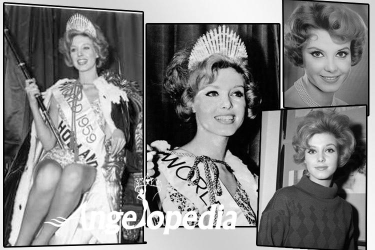 Corine Rottschafer Miss World 1959 from Netherlands