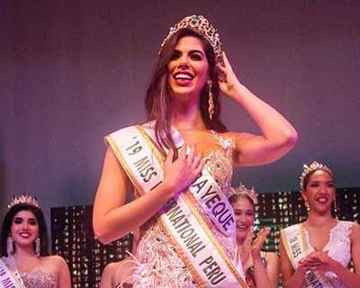 Majo Barbis is Miss International Peru 2019 for Miss International 2019