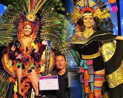 Daniela Mera of Muisine wins Best in National Costume for Miss Ecuador 2020