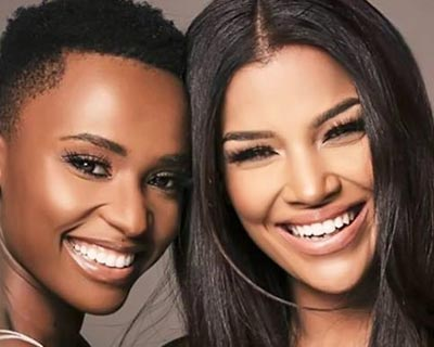 South African beauty queens Zozibini Tunzi and Sasha-Lee Oliver celebrate Africa Day