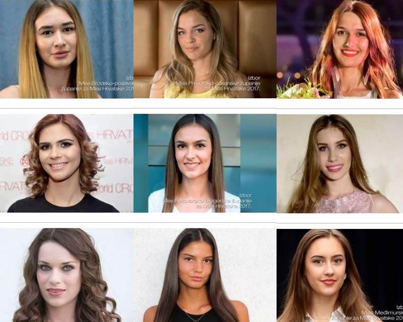 Meet the contestants of Miss World Croatia 2017