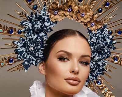 Klára Vavrušková's national costume to reflect 'Czech Folklore and Blueprint technology' at Miss Universe 2020