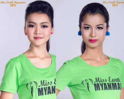 Miss Earth Myanmar 2017 contestants Headshots