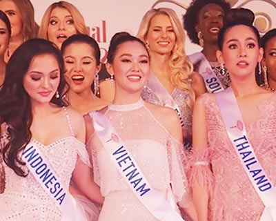 Tetrad of Asian beauties grace the final round of Miss International 2019