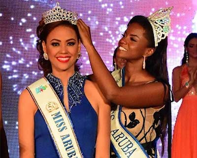 Ghislaine Mejia crowned Miss World Aruba 2019