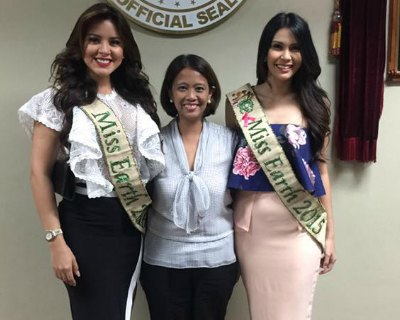 Katherine Espin and Angelia Ong visit Senate of the Philippines