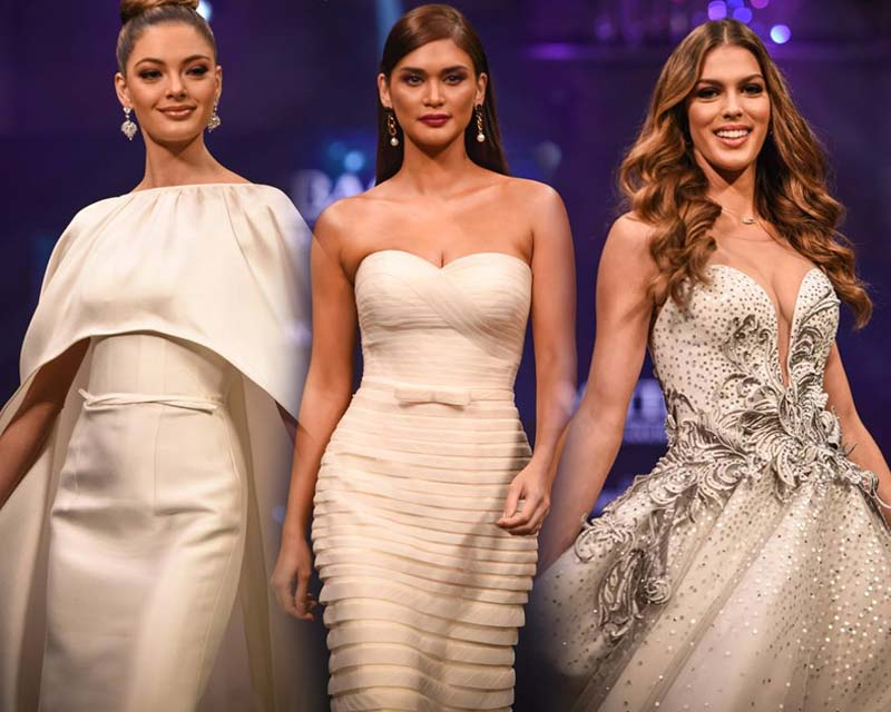 Demi-Leigh, Iris and Pia at Miss Universe Charity Fashion Gala