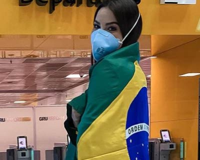 Brazil's Julia Gama arrives in Mexico for quarantine before heading to USA for Miss Universe 2020