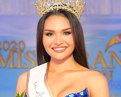Paonrat Pinmuang crowned Miss Grand Chumphon 2020 for Miss Grand Thailand 2020