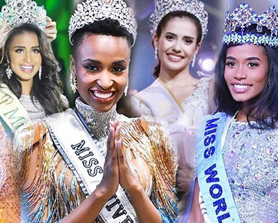 Winners of the Major International Beauty Pageants of 2019