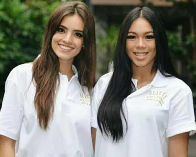 Beauty Queen Duo Miss World 2018 and Miss Indonesia 2018 spread the message of love on Valentines Day to all