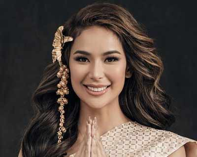 Filipina beauty Samantha Bernardo arrives in Thailand for Miss Grand International 2020
