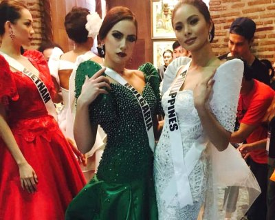 Miss Universe 2016 contestants attend Terno Fashion Show