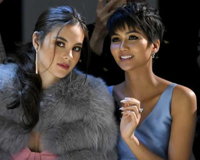 Miss Universe sisters Catriona Gray and H'Hen Niê reunite at New York Fashion Week
