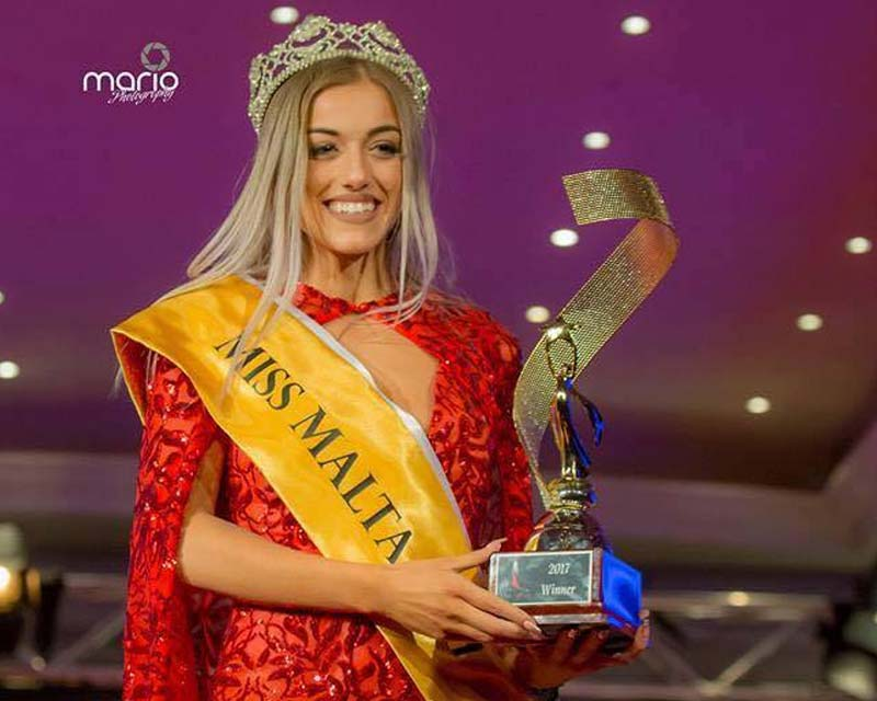 Yanika Azzropardi crowned Miss Malta 2017 for Miss Earth 2018