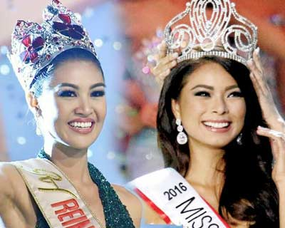 Filipina beauty queens Maxine Medina and Winwyn Marquez discuss pageant journey and new ventures