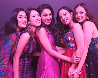 Miss Nepal 2019 queens walk for Fashion from Home