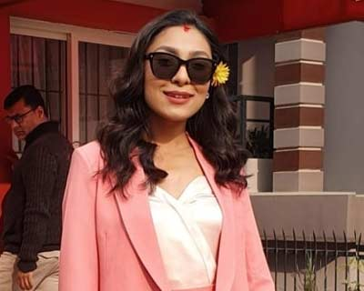 Nepal's Anushka Shrestha departs to London for Miss World 2019