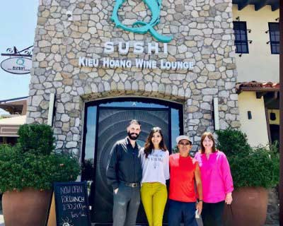 Stephanie De Valle and Julia Morley Visited Q Sushi Restaurant at Westlake Village