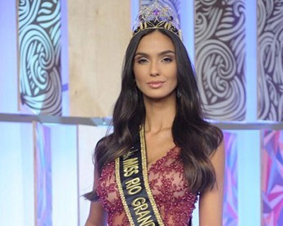 Bianca Scheren crowned Miss Rio Grande do Sul Be Emotion 2019 for Miss Universe Brazil 2019